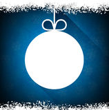 Christmas paper ball on blue background. Stock Photography