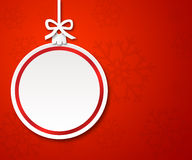 Christmas paper ball on red background 1 Royalty Free Stock Images