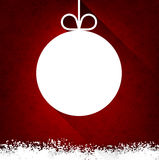 Christmas paper ball on red background. Stock Images