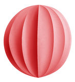 Christmas paper ball - Red Royalty Free Stock Images