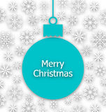 Christmas Paper Ball, Unusual Greeting Card Royalty Free Stock Photo