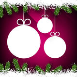Christmas paper balls on magenta background. Royalty Free Stock Photo