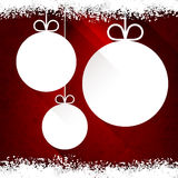 Christmas paper balls on red background. Stock Photos