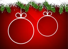 Christmas paper balls on red background. Royalty Free Stock Images