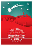 Christmas paper card Royalty Free Stock Images