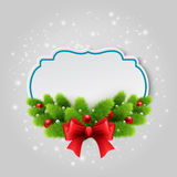 Christmas paper card. Winter background Vector Stock Photo