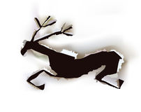 Christmas paper collection Raindeer Stock Photography