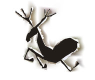 Christmas paper collection Raindeer Royalty Free Stock Photos