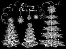 Christmas paper conifers Stock Photos