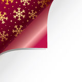 Christmas paper curl Stock Photography