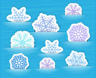 Christmas paper flakes collection Royalty Free Stock Images