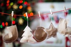 Christmas paper garland. Christmas decor Royalty Free Stock Photos
