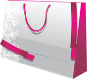 Christmas paper gift bag. Illustration Royalty Free Stock Image