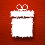 Christmas paper gift over red. Royalty Free Stock Photo