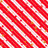 Christmas paper. Illustration of a red and white christmas background with stripes and stars stock illustration