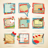 Christmas Paper notes. Scrapbooking elements Stock Image