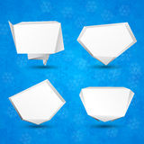 Christmas paper origami bubbles. Royalty Free Stock Images