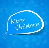 Christmas paper speech label. Royalty Free Stock Photography