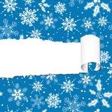 christmas paper torn Στοκ Εικόνα