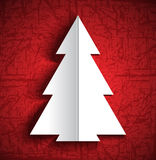 Christmas paper tree Royalty Free Stock Photography