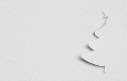 Christmas paper tree Royalty Free Stock Image