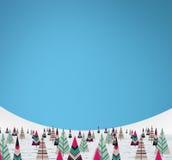 Christmas paper trees Stock Photos