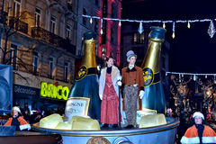Christmas Parade defile in Brussels Stock Image