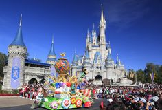 Christmas Parade in Magic Kingdom, Orlando, Florida. USA Stock Images