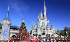 Christmas Parade in Magic Kingdom, Orlando, Florida. USA Stock Photos