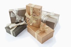 Christmas parcels Royalty Free Stock Photos