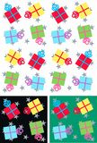 Christmas parcels seamless. Seamless christmas pattern with parcels in different colours Royalty Free Stock Images