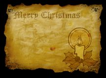 Christmas parchment Stock Photography