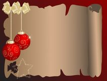 Christmas parchment Royalty Free Stock Photos