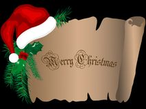Christmas parchment Royalty Free Stock Images