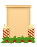 Christmas parchment. Greeting with decoration Royalty Free Stock Photography