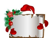 Christmas parchment Royalty Free Stock Image