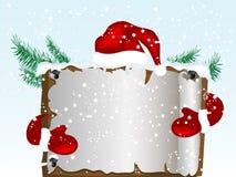 Christmas parchment Stock Photo