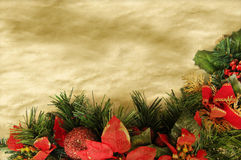 Christmas parchment background Stock Images