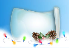 Christmas parchment with colorful lights  Royalty Free Stock Image
