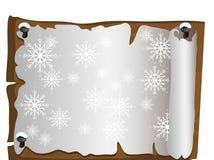 Christmas parchment Stock Image