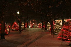 Christmas In The Park Stock Photography