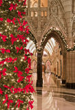 Christmas Parliament. Inside the Canadian Parliament's Centre Block Rotunda decorated for Christmas Royalty Free Stock Photos