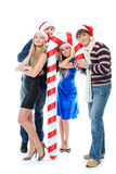 Christmas party stock image