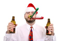 Christmas Party. Man Royalty Free Stock Photos