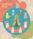 Christmas party, baby costumes, infographics Stock Images