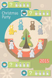 Christmas party, baby suits, infographics. Christmas party, to select baby costumes to celebrate the new year, infographics royalty free illustration