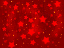 Christmas party background from red stars. Textured digital illustration Stock Photo