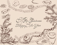 Christmas party background Stock Image