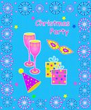 Christmas party card Royalty Free Stock Photo