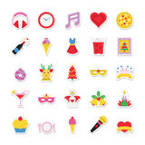 Christmas, Party and Celebration Colored Vector Icons 8 Stock Photography